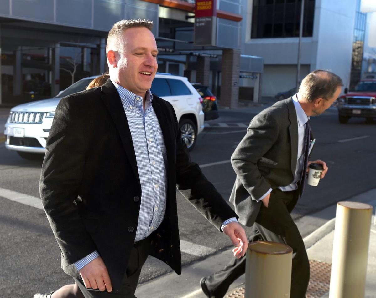 Stephen Casher court arrival closeup