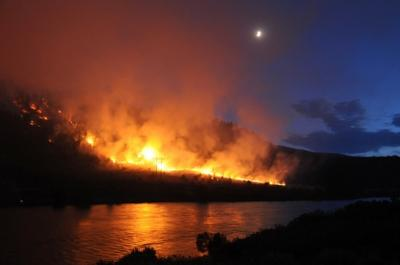 Bear Trap Canyon fire