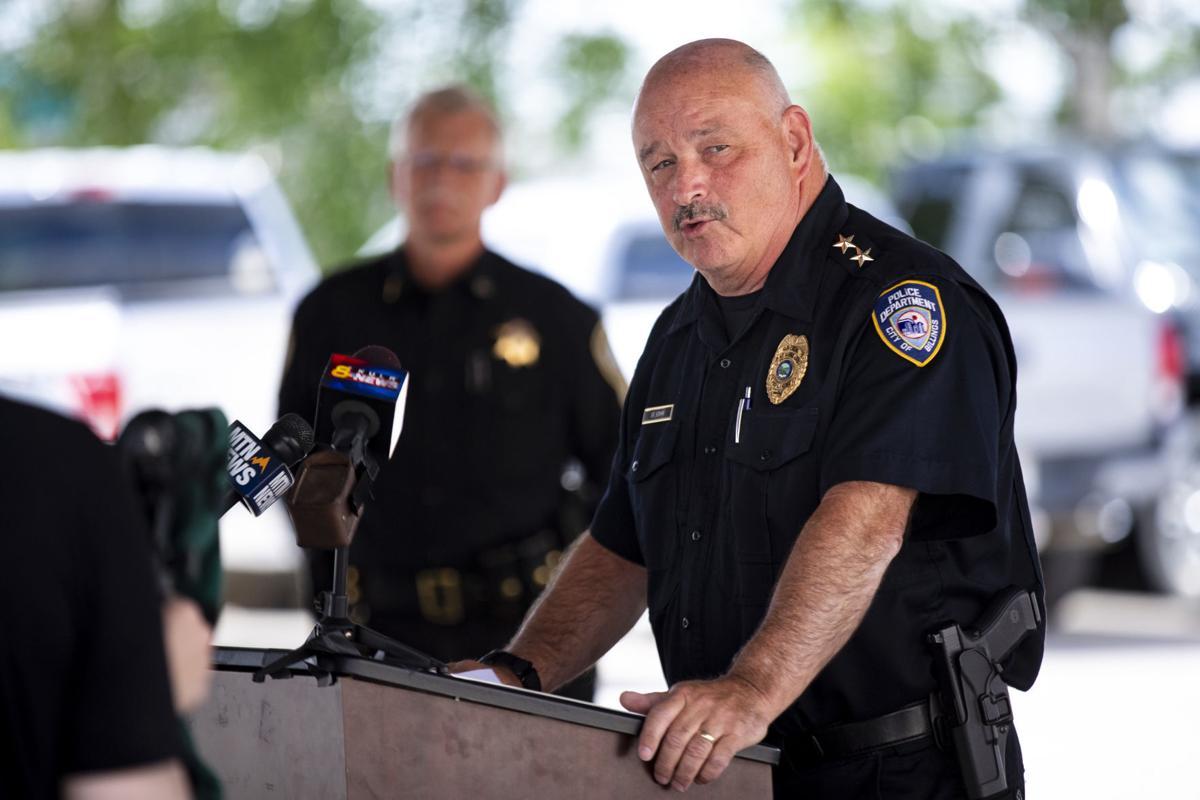 Police chief Rich St. John speaks