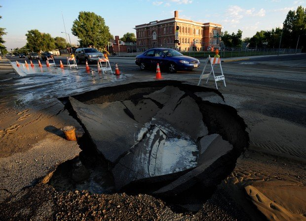 Broadwater Avenue sinkhole