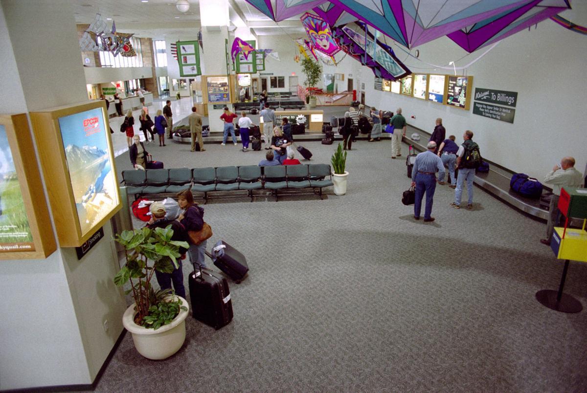 Billings Logan International Airport baggage claim, September 11, 2001
