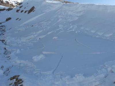 Early season avalanche