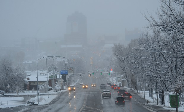 Heavy wet snow covers the Billings area
