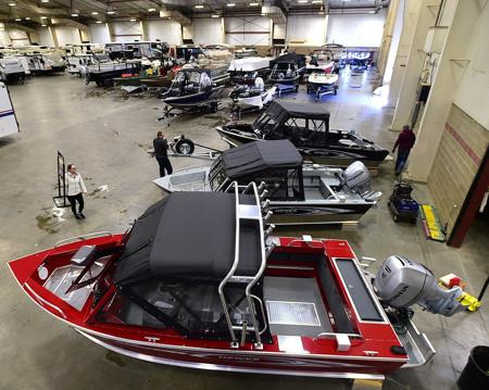 Photo: MetraPark sets up Billings RV Boat Show - Please turn images on