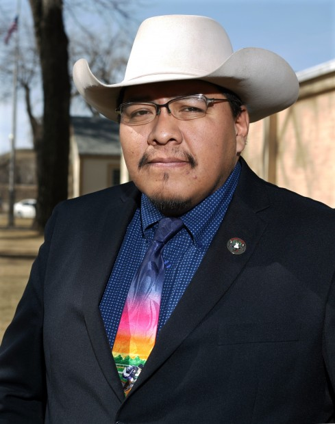 Crow tribal chairman Darrin Old Coyote