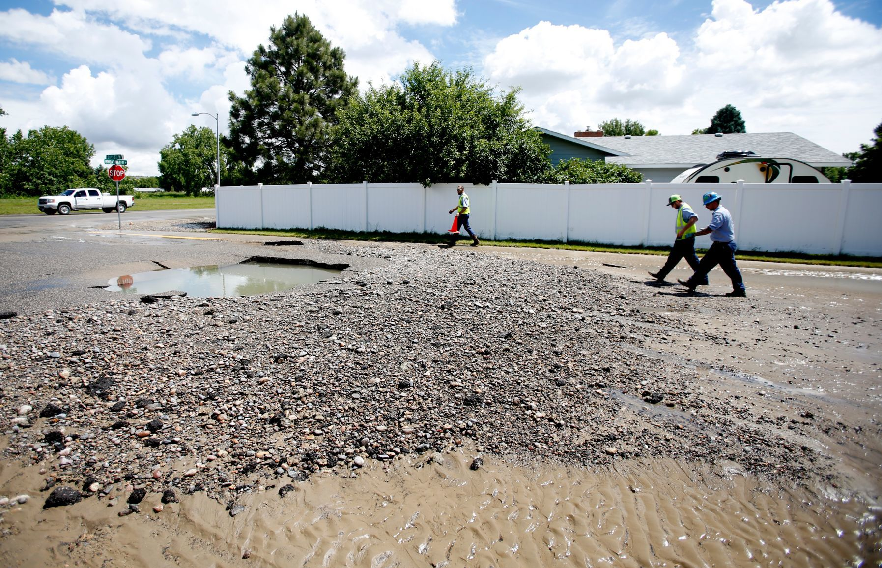 Busted water main makes 'a mess of the streets' on Billings' West End | Billings Gazette