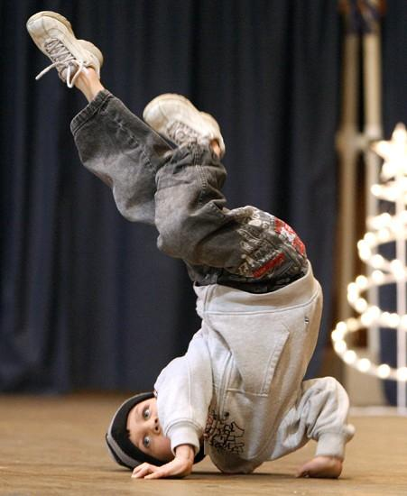 Tiny break dancers: Boys get their attitude going in hip-hop style