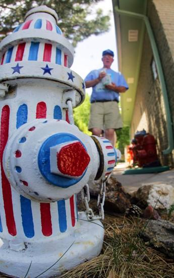 Old fire hydrants become yard art