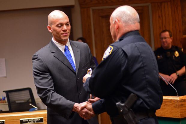 New officer Jeffrey Stovall
