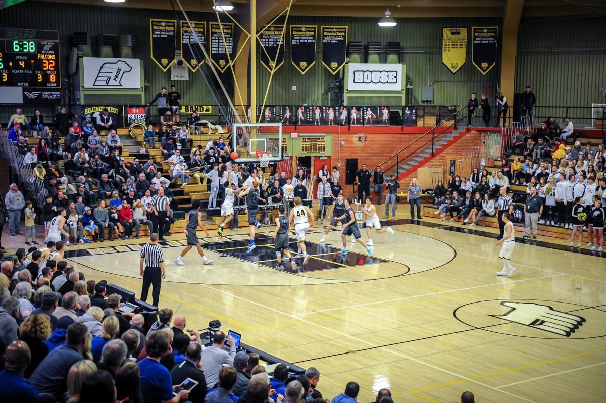 Billings West High Hosts Billings Skyview for Boys Basketball