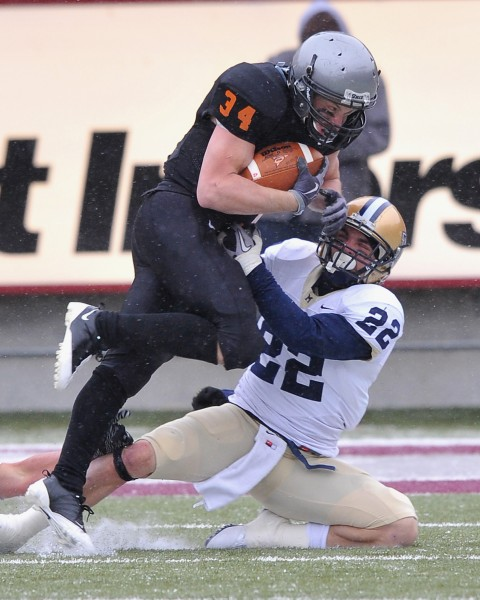 Grizzlies running back Chase Reynolds had a stellar game but saw his career series against Montana State end in a loss.