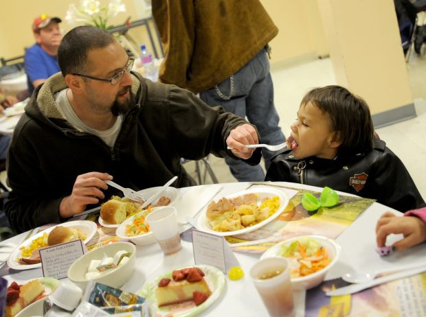 Easter dinner at Montana Rescue Mission