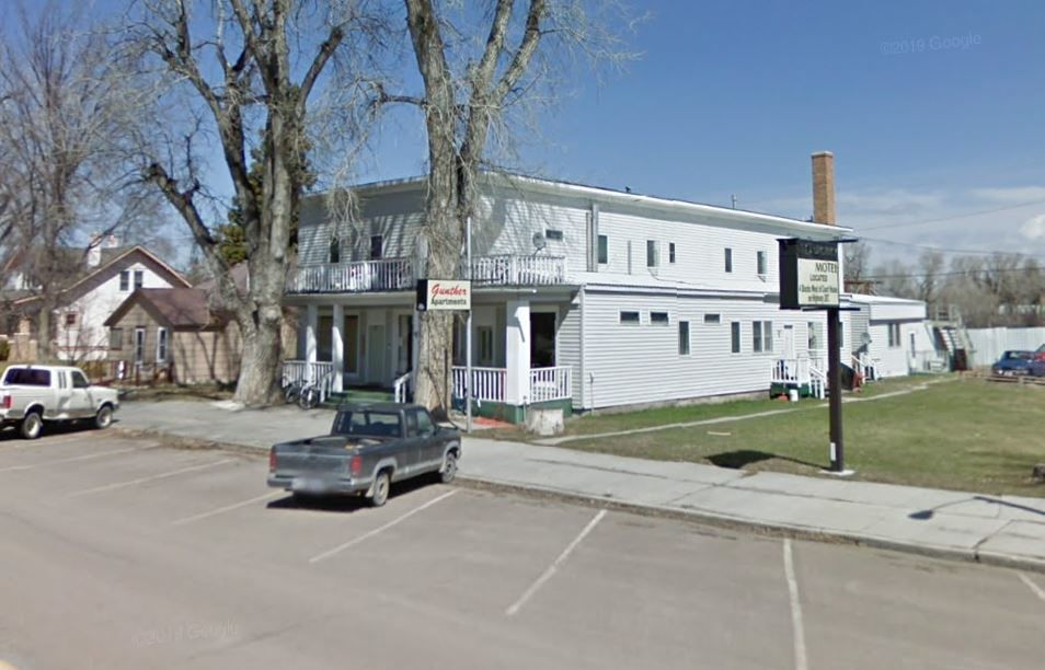 A Google street view image of the Gunther Apartments in Choteau.