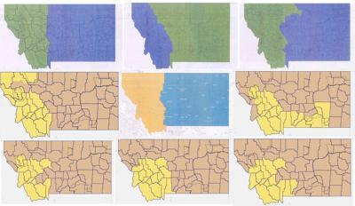Montana redistricting maps