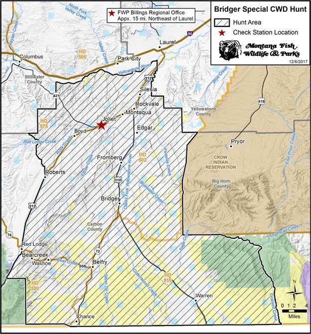 CWD hunt area