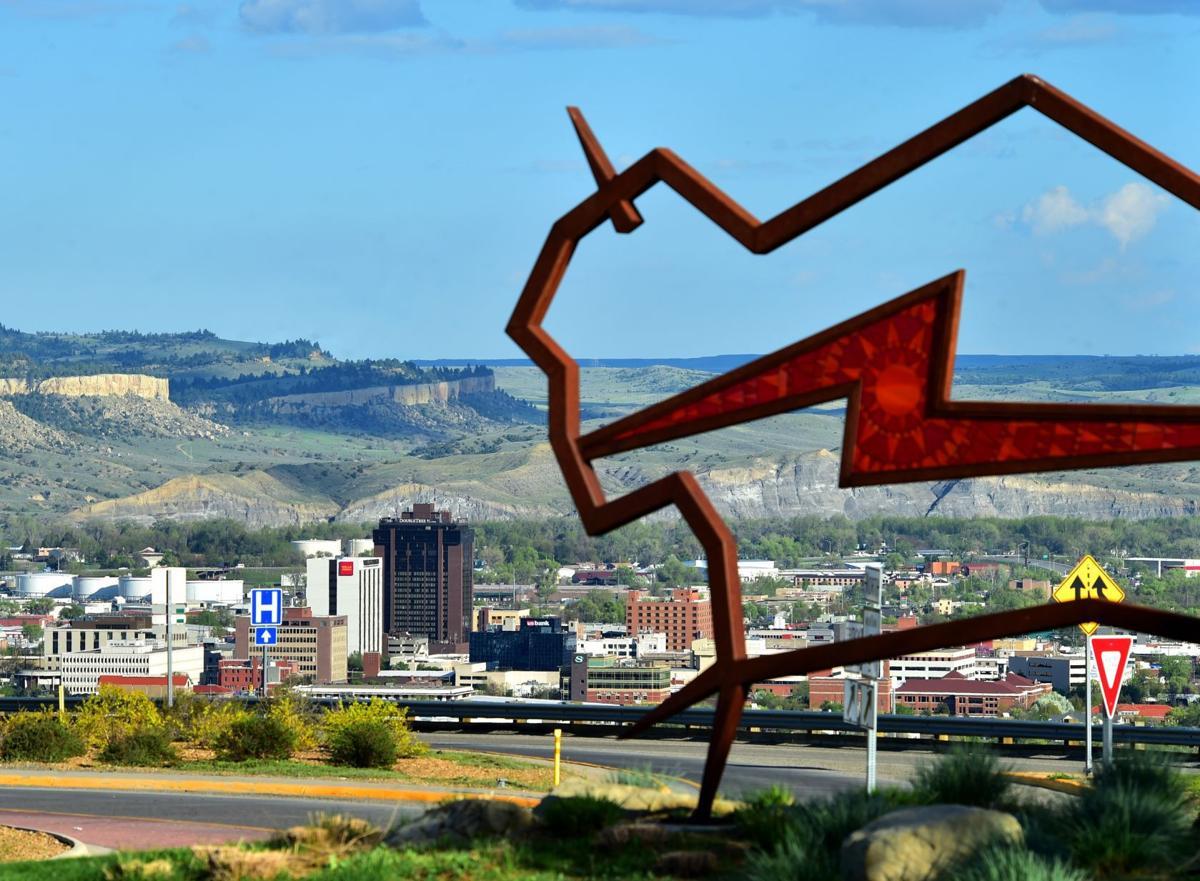 Bison sculpture downtown