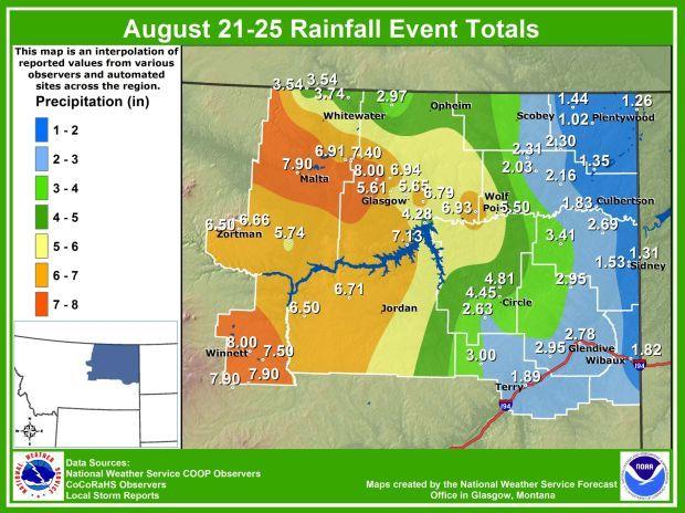 Aug. 21-25 rain totals