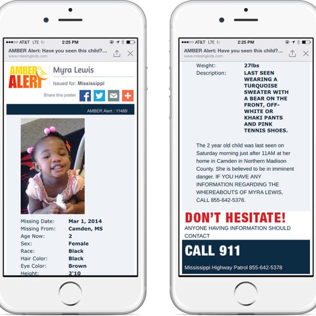 Highway Patrol says Facebook Amber Alerts could help save