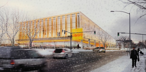 Library rendering with snow