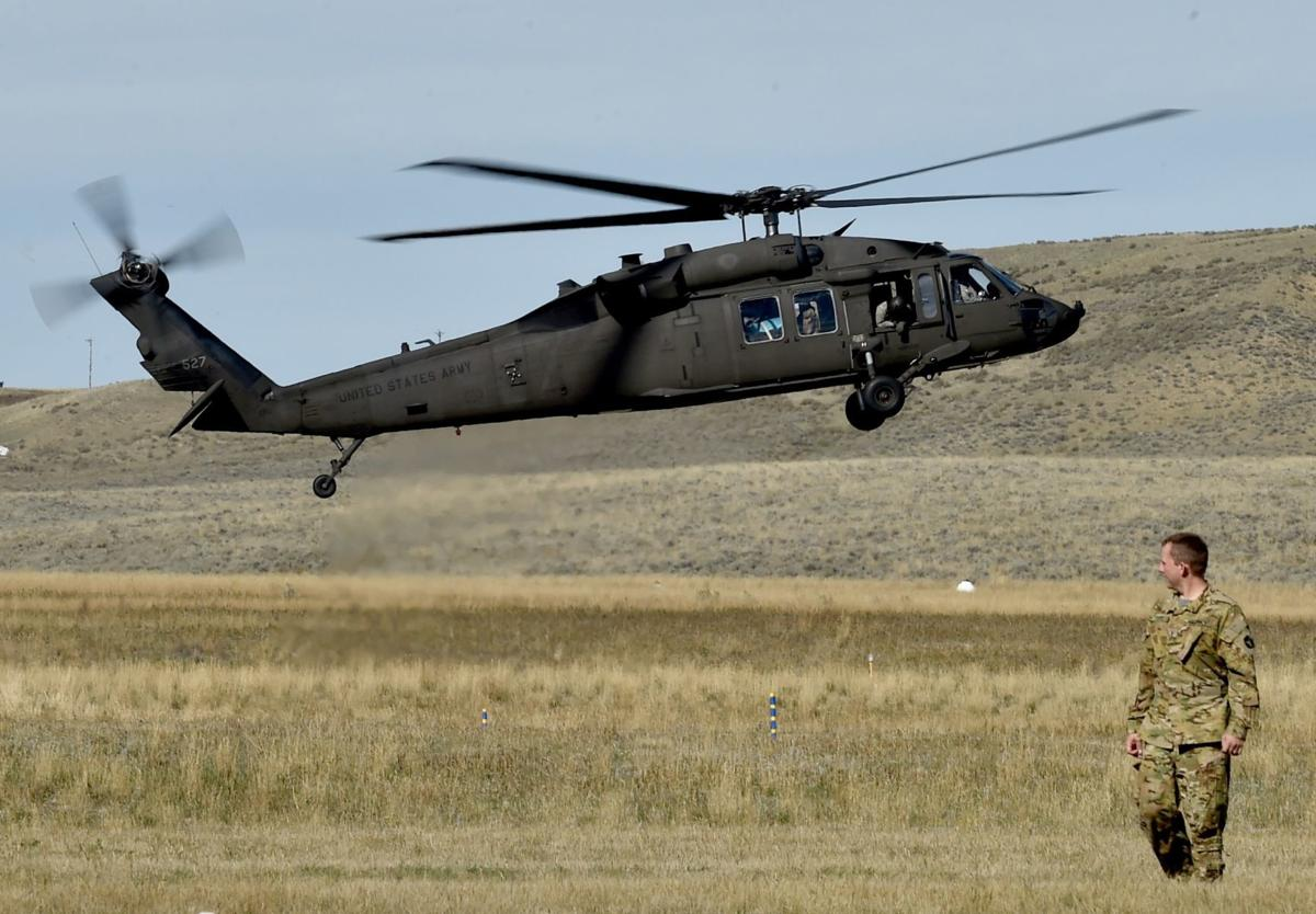 A UH-60 Blackhawk Helicopter