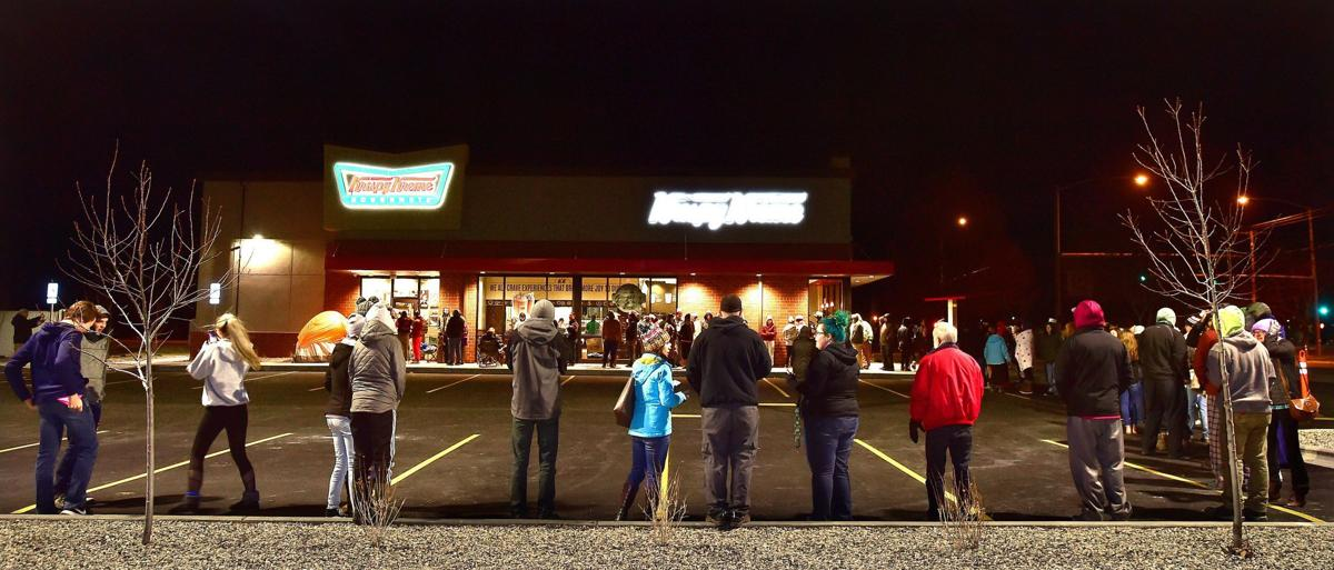 Krispy Kreme Doughnuts line in Billings