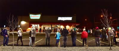 Krispy Kreme Doughnuts line in Billings