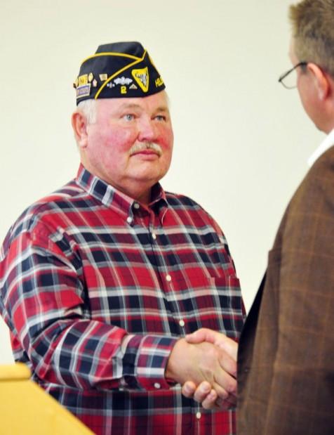 Bill Rich gets medals