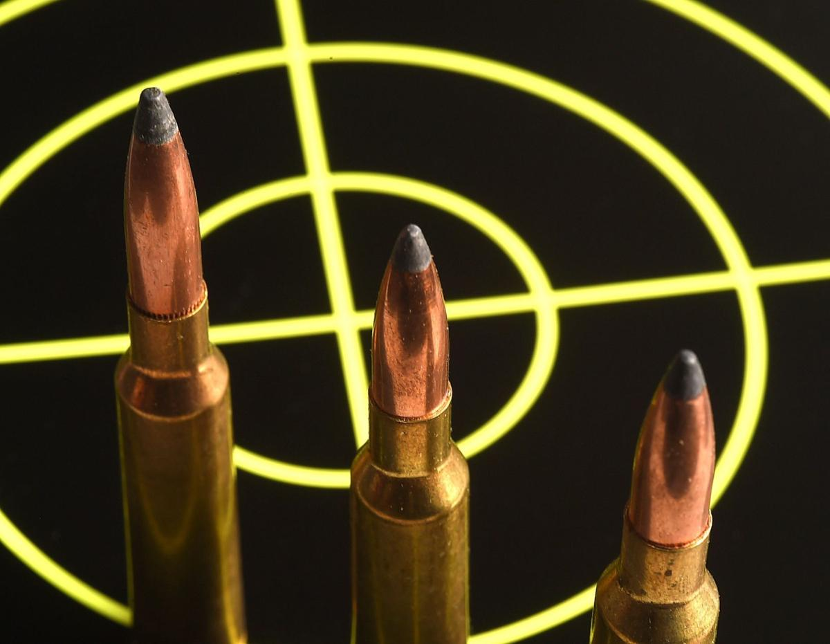 Rifle ammo and target