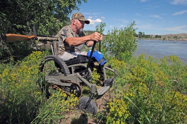 James Daniels demonstrates his off-road wheelchair & All-terrain wheelchair provides access to tougher terrain | Outdoors ...
