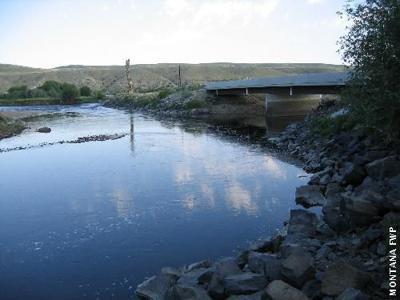 Pennington Bridge fishing access site
