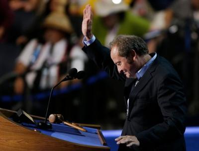 Schweitzer gestures at DNC in 2012
