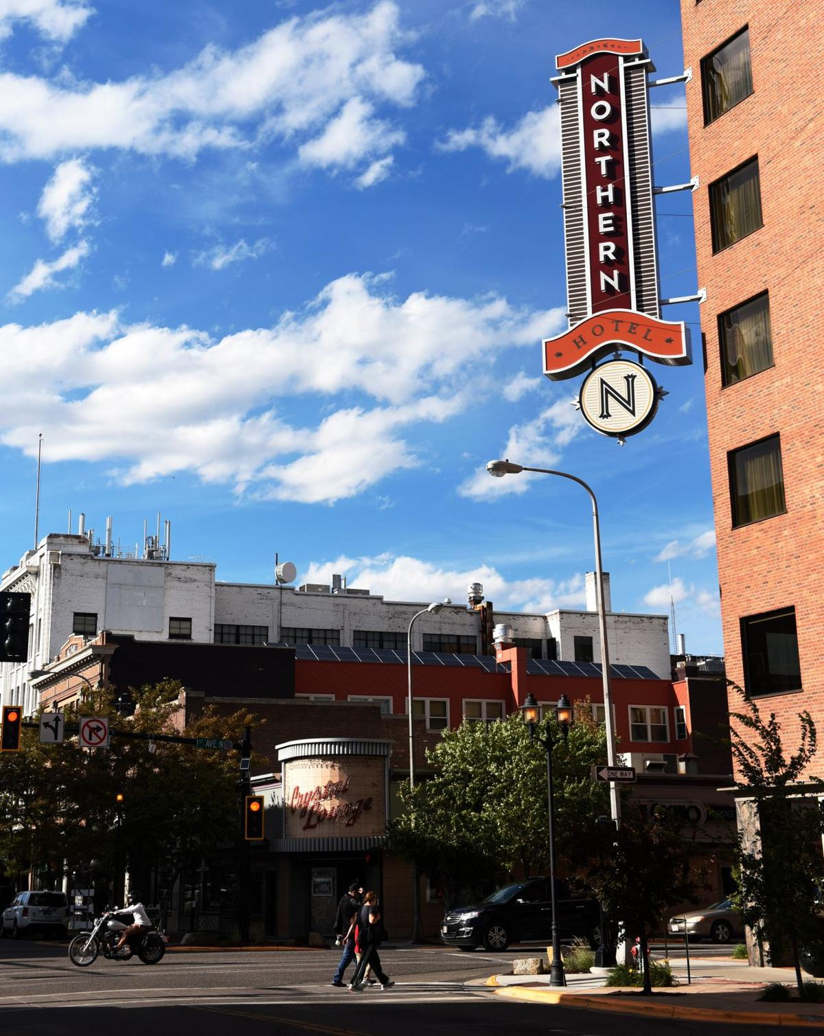 Northern Hotel and downtown Billings