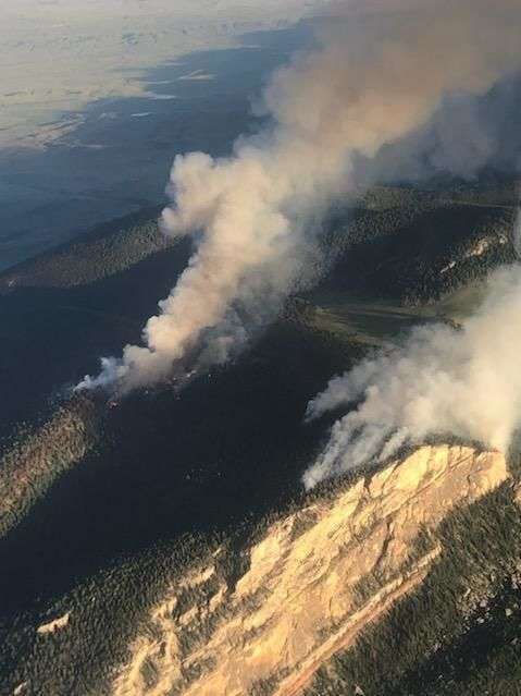 Firefighters use helicopters, strategic burns to fight Wyoming blaze