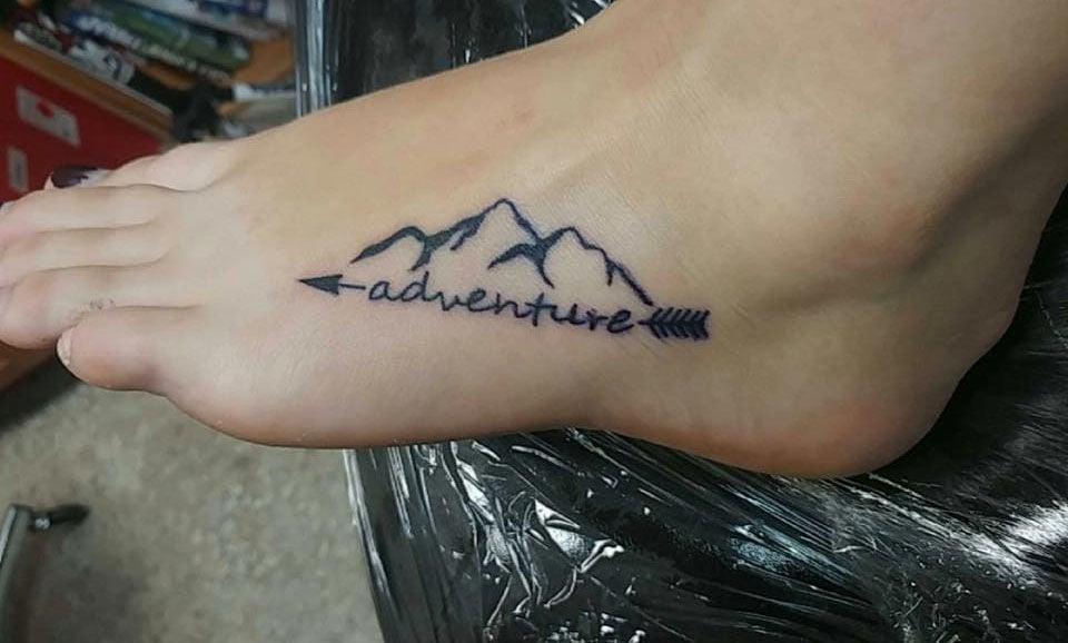 Wild montana tattoos of mountains and lakes montana for Blue ridge mountain tattoo