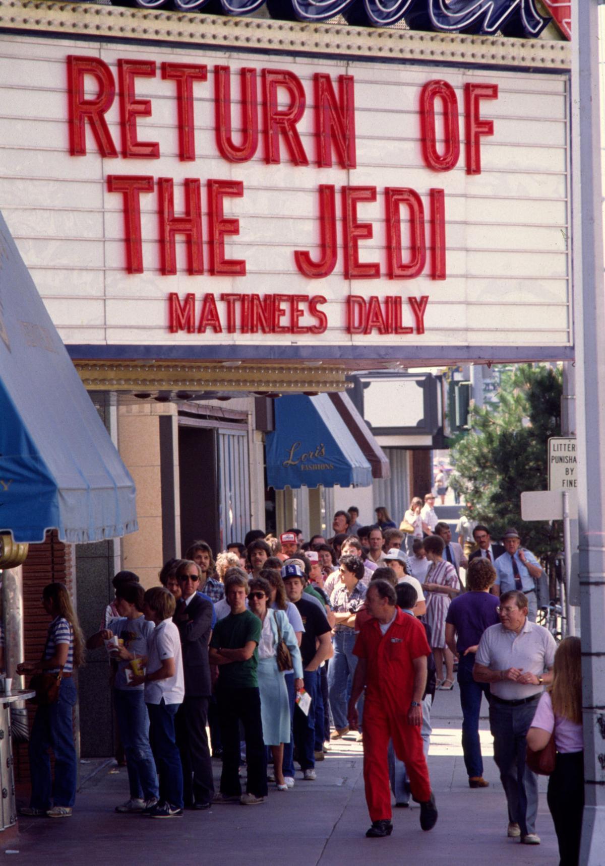 "1983 ""Return of the Jedi"" premiere at the Babcock Theatre"