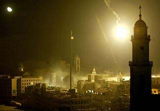 Shots, fire erupt at Church of Nativity