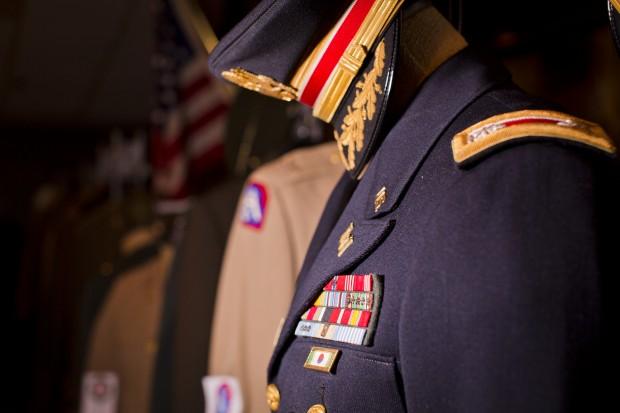 The uniform of Colonel Dakan Frank