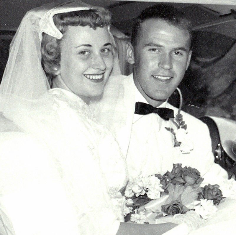 Marilyn and Roger Bauer in 1956