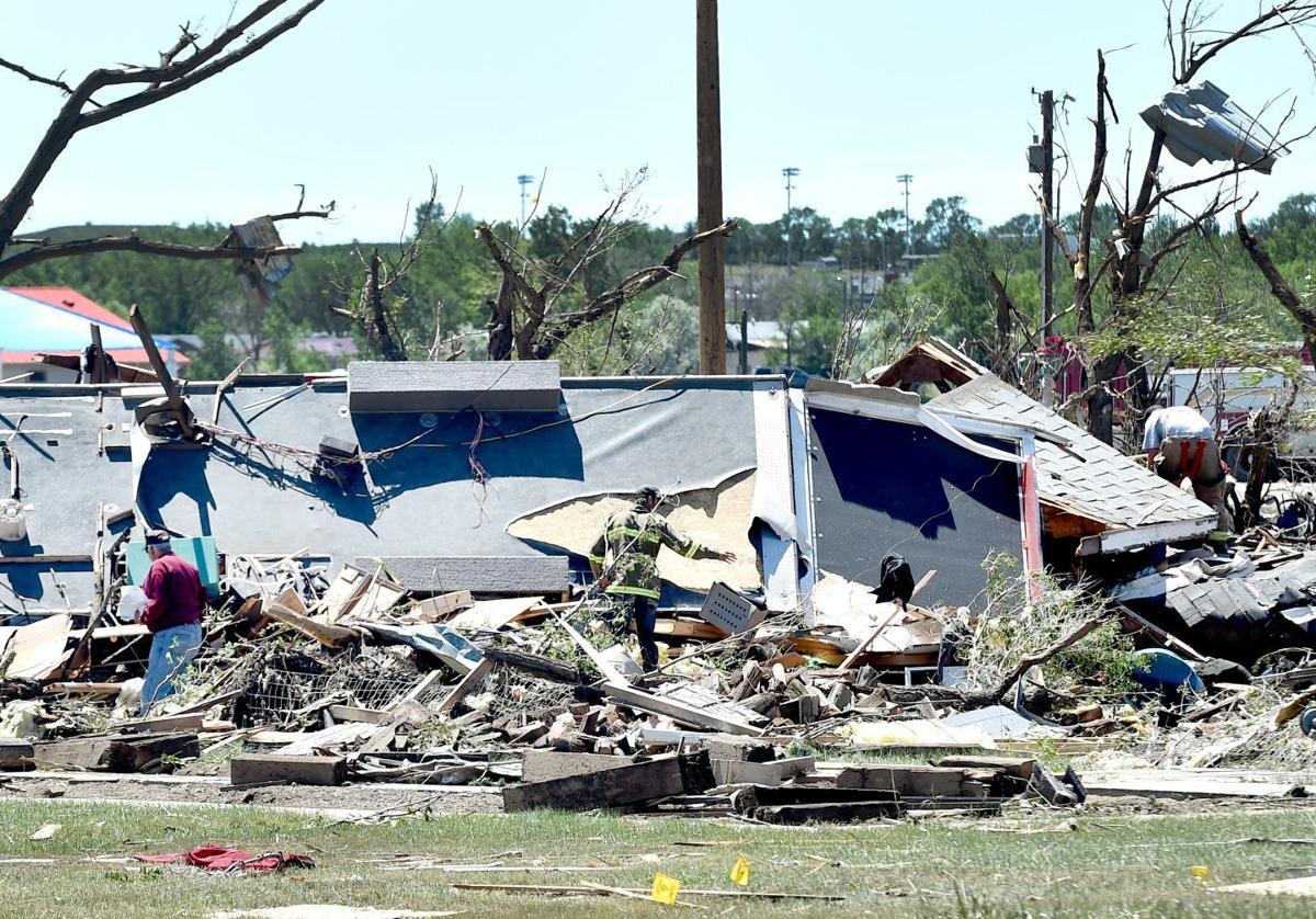 Tornado hits Baker