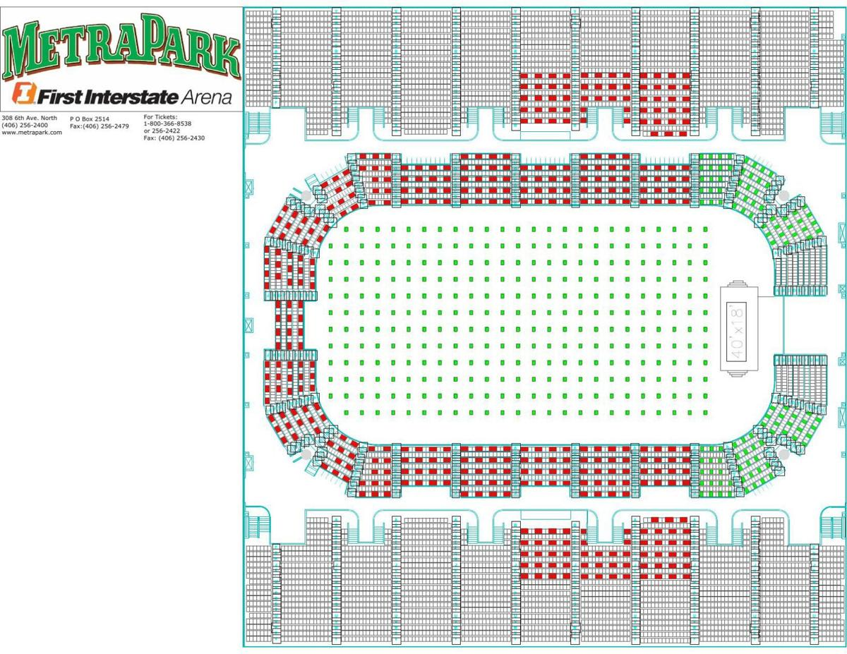 MetraPark seating chart for graduations