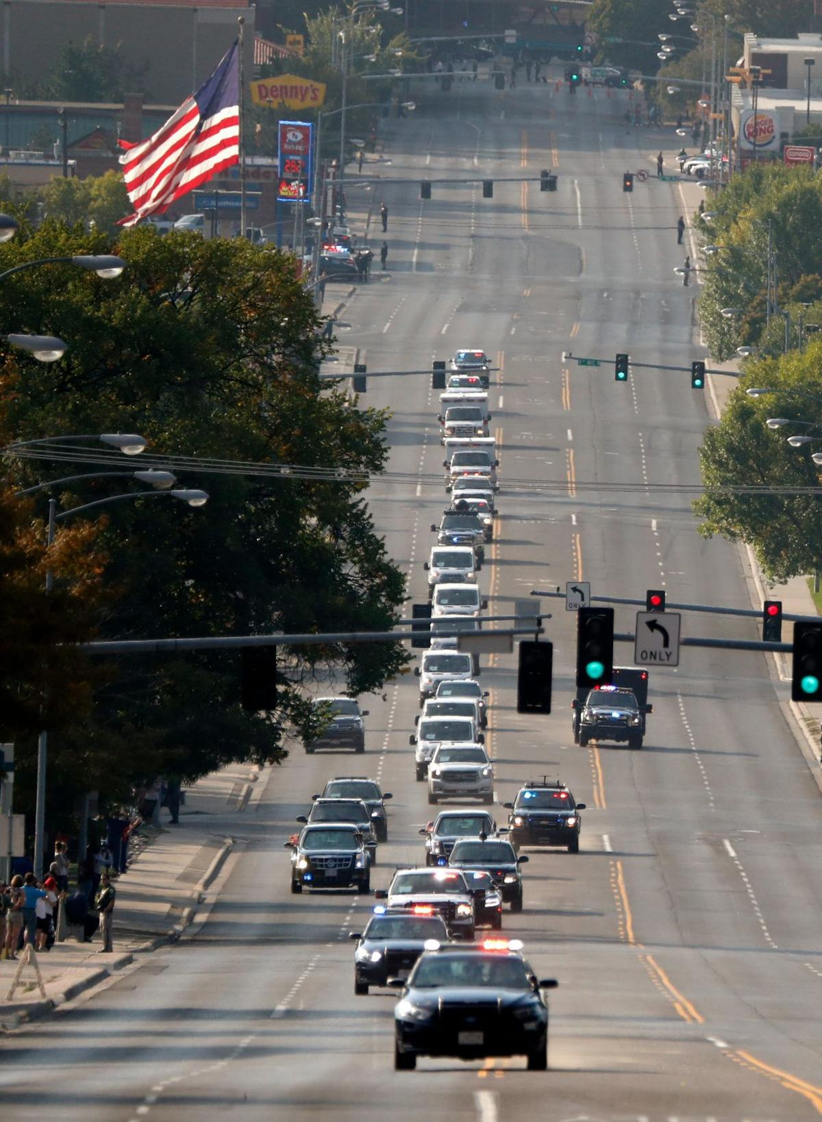 The Presidential motorcade