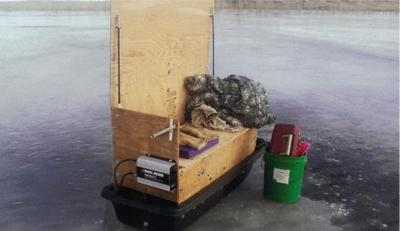 Ice- sled's an off-season building project | Outdoors ... on iceshanty sleds, ice sledding, homemade ice shanty sleds, antique ice sleds, ice fishing sleds,