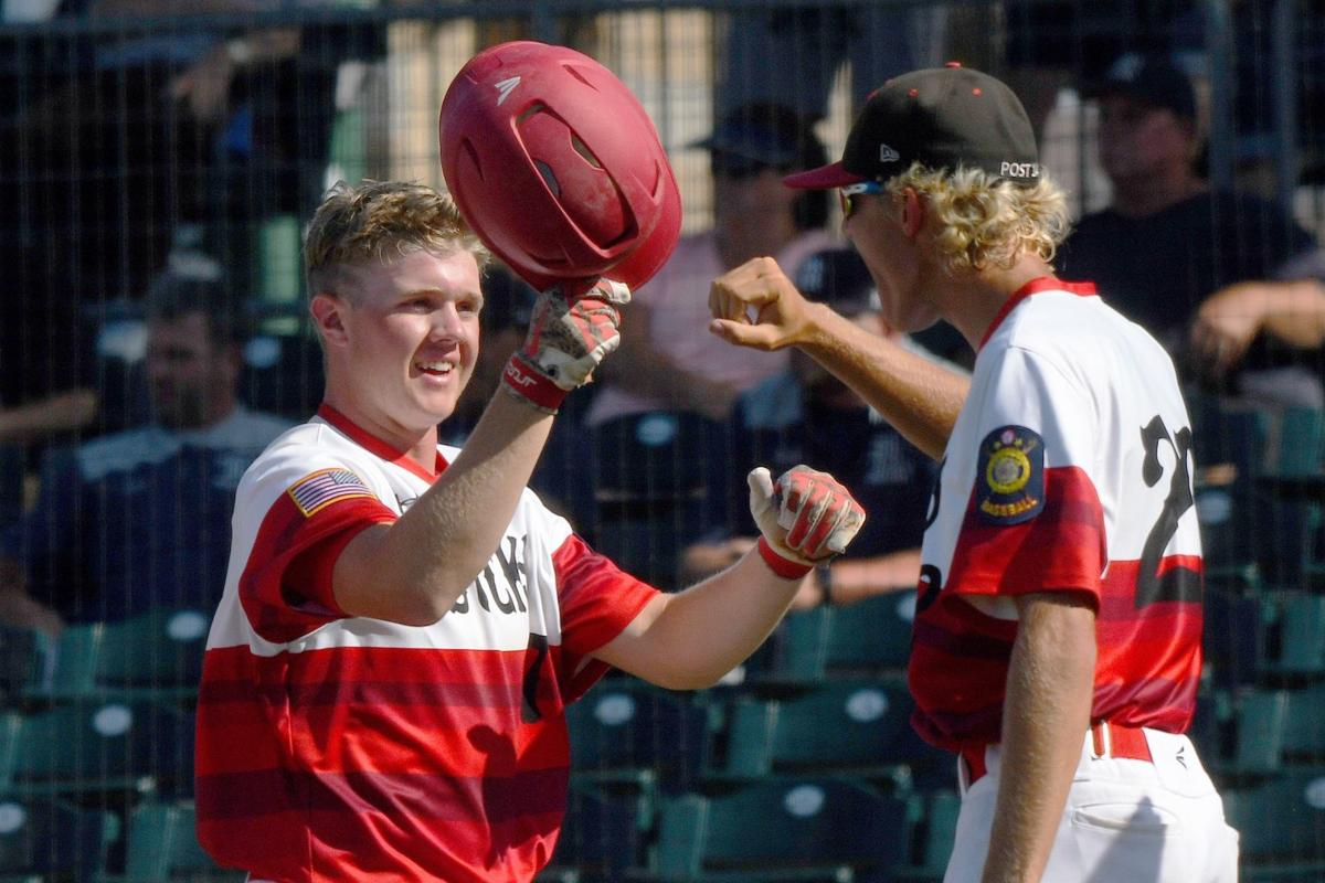 Bozeman Bucks and Helena Senators face off during day two of the Legion State AA Baseball Tournament