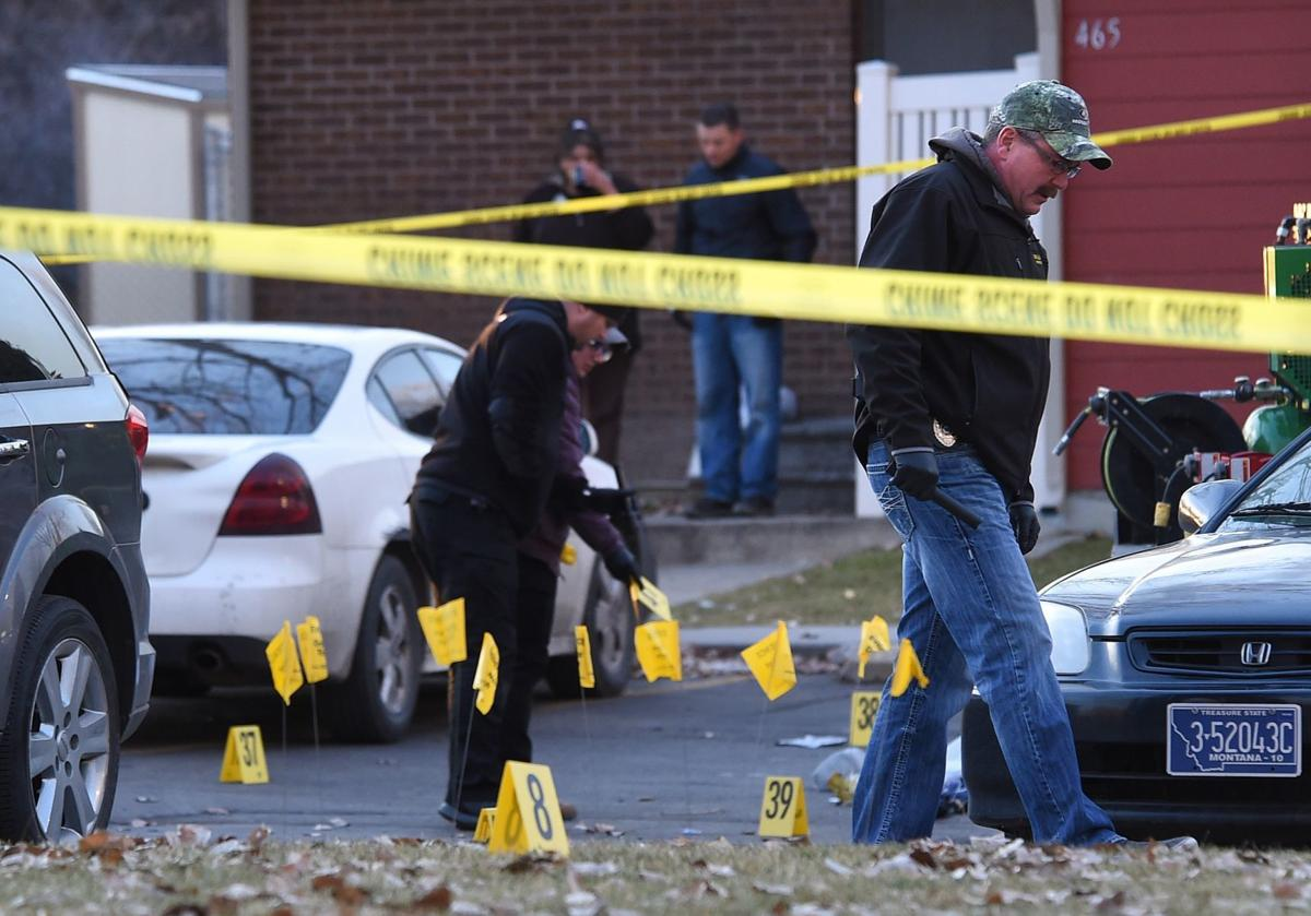 Shooting scene evidence markers