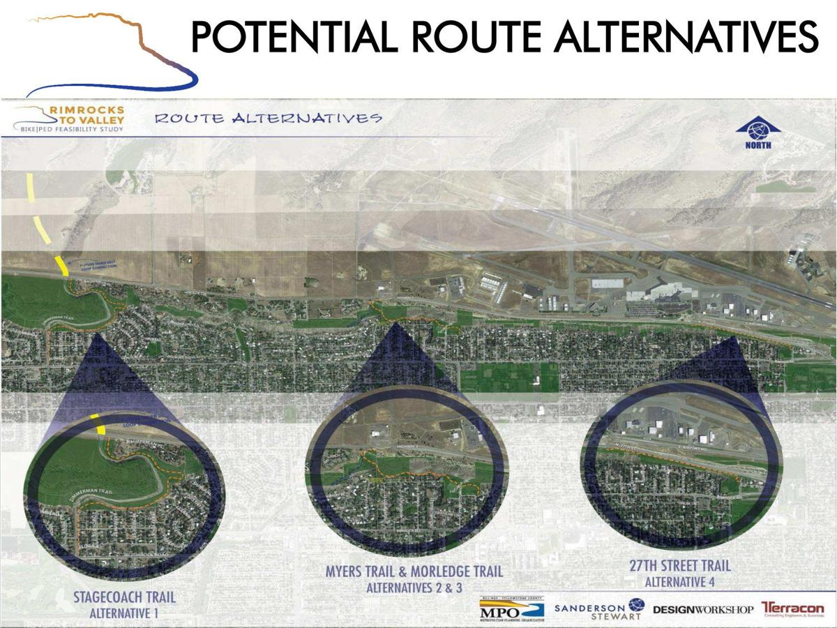Potential route alternatives