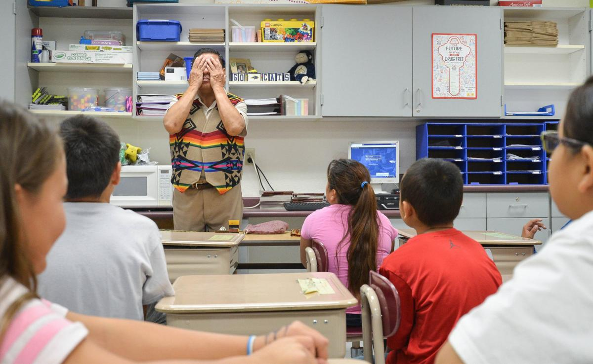 Fort Belknap students learn traditional smudging, sweetgrass