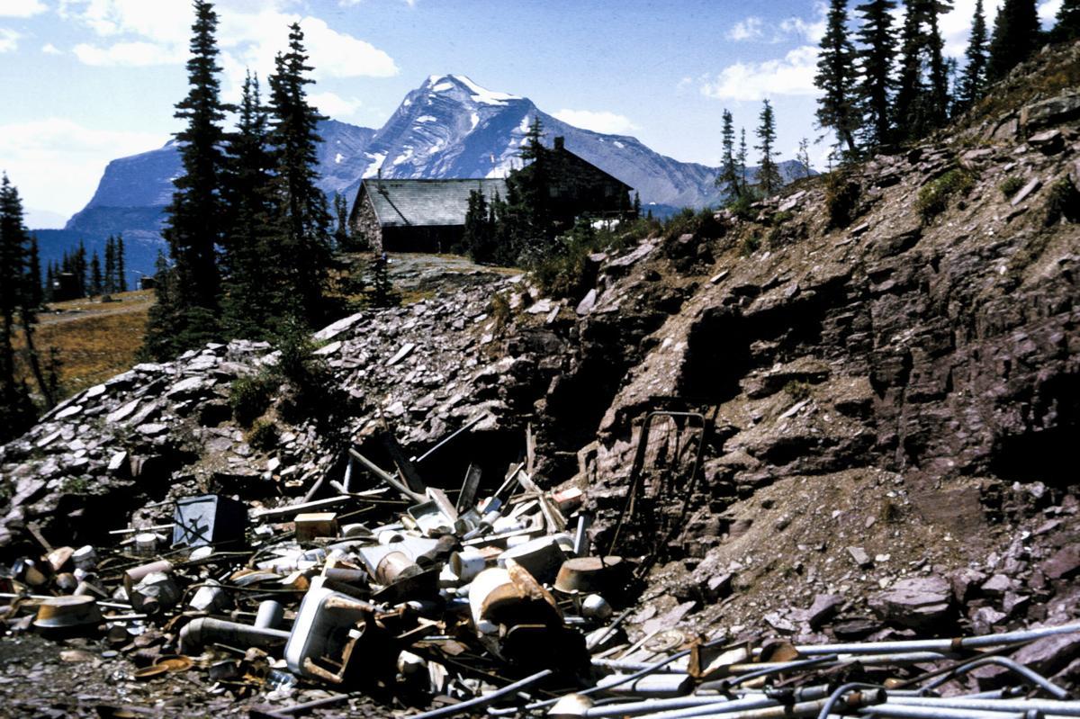 Granite Park Chalet garbage dump
