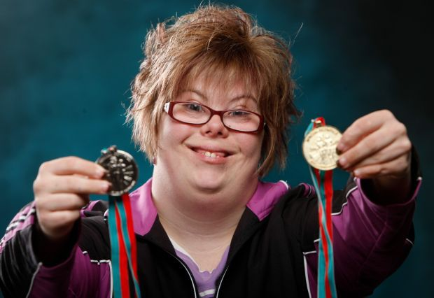 Special Olympics athlete Jessica Hasler