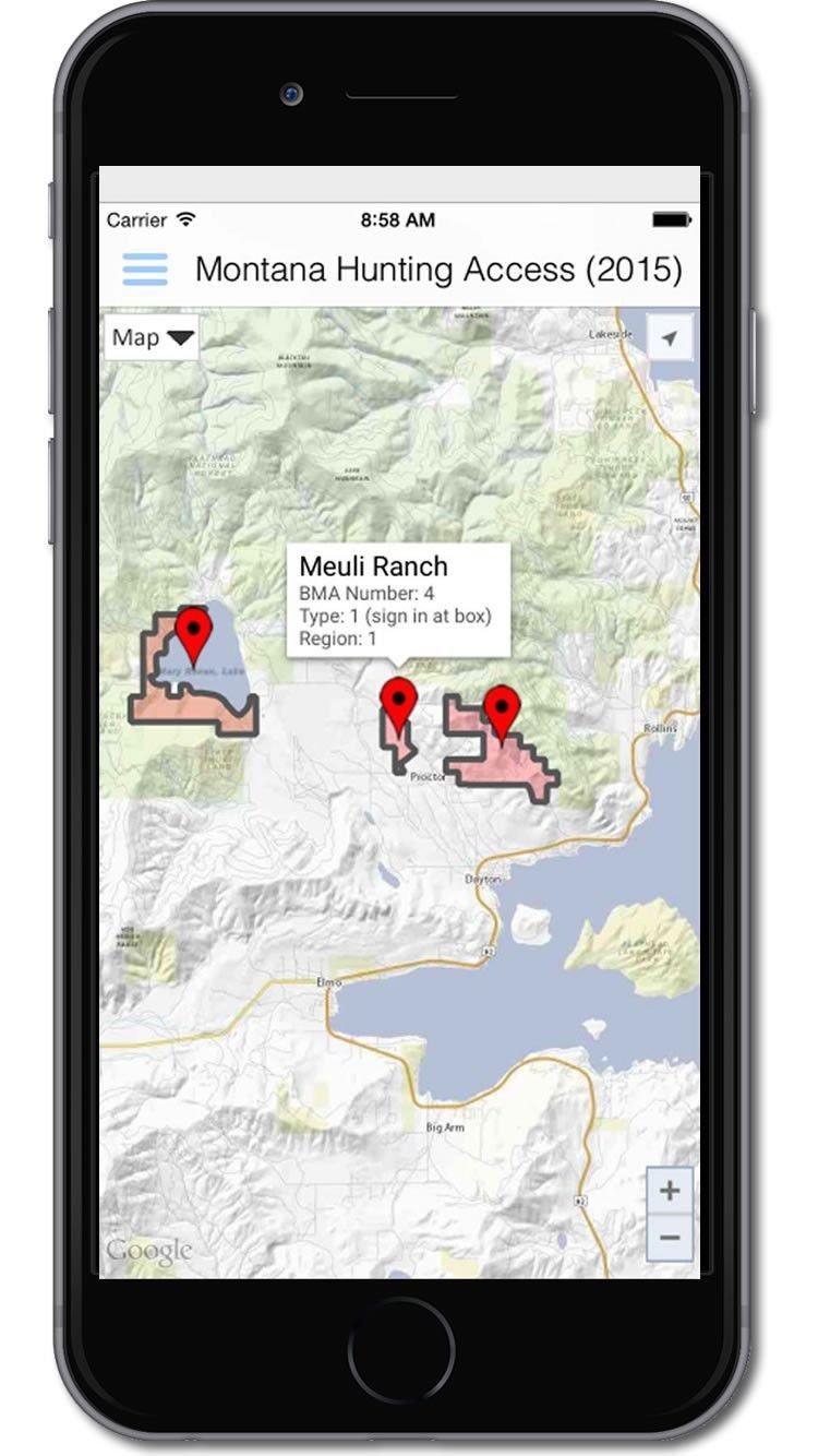 New cellphone app maps...