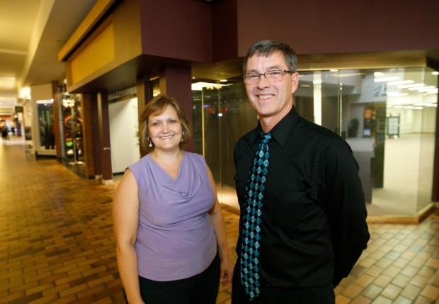 Owner Dave Simkins and store manager Mary Lave